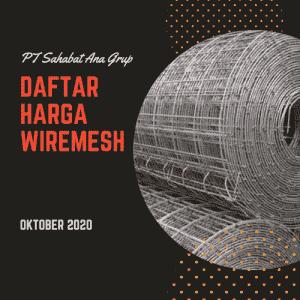 Daftar Harga Wiremesh Oktober 2020
