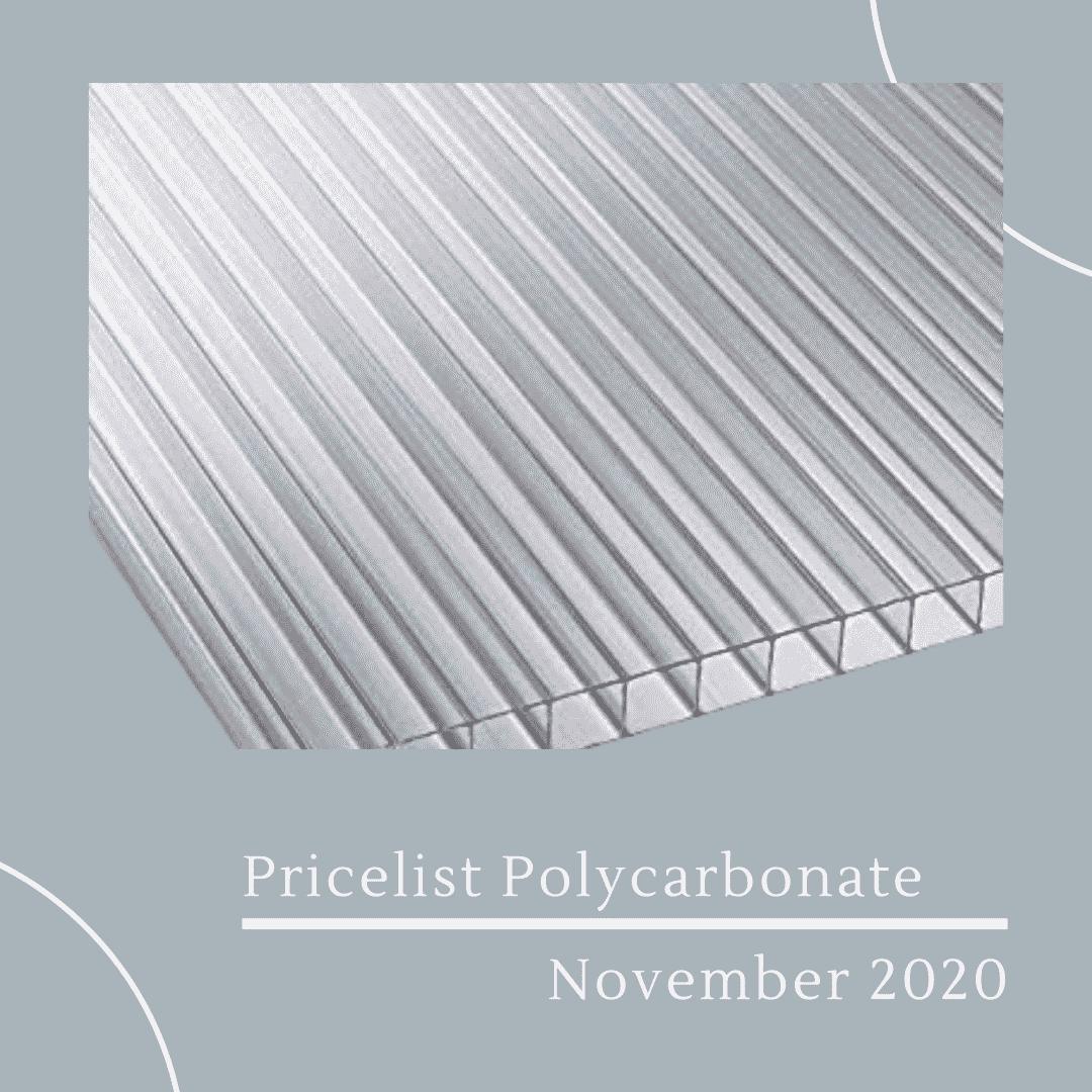 Pricelist Polycarbonate November 2020